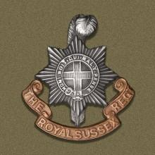 Image of Royal Sussex Regiment cap badge