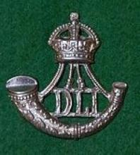 Image of the cap badge of the Durham Light Infantry