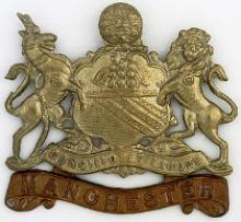 Image of the Manchester Regiment cap badge (Crown copyright)
