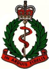 Image of the Royal Army Medical Corps cap badge
