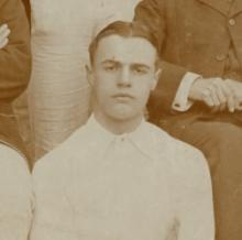 Image of Private Robert Hogg (Ref: E/HB 2/698). Image Durham County Record Office copyright record.office@durham.gov.uk.